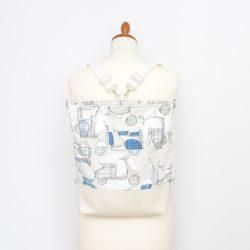 Poppy 3in1 ekrü-kék robogós táska