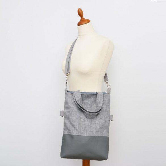 Olivia 3in1 szürke raszteres táska