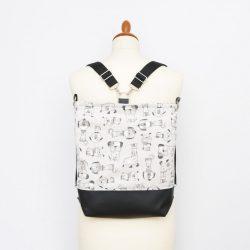 Lauren 3in1 fekete-bézs kutyás táska