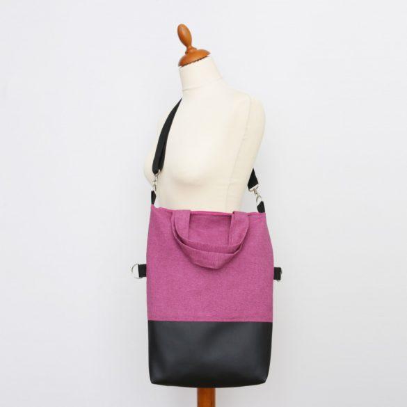 Emily 3in1 fekete-pink raszteres táska