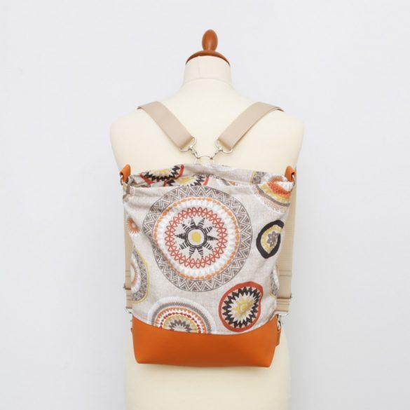 Lily 3in1 narancs mandalás táska
