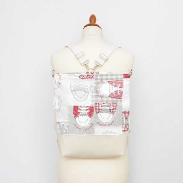 Jessica 3in1 ekrü-piros dorkós táska