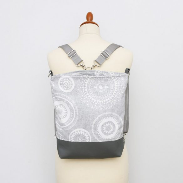 Amelia 3in1 sötétszürke-ezüst mandalás táska