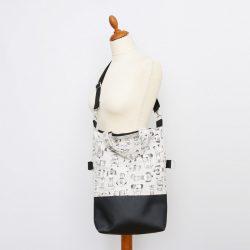 Sophie 3in1 fekete-bézs kutyás táska