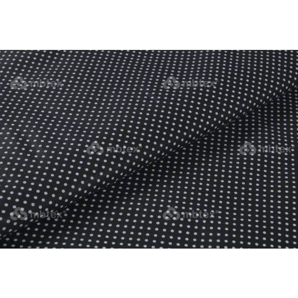 D 004 fekete alapon fehér pöttyös 2 mm