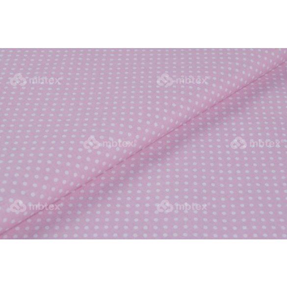 D 006 rózsaszín alapon fehér pöttyös 2 mm