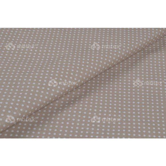 D 008 bézs alapon fehér pöttyös 2 mm
