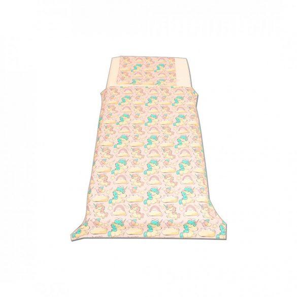 Rózsaszín unikornisos ágyneműszett kisgyermeknek