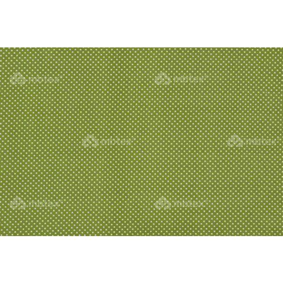 D 249 pisztáciazöld alapon fehér pöttyös 2 mm