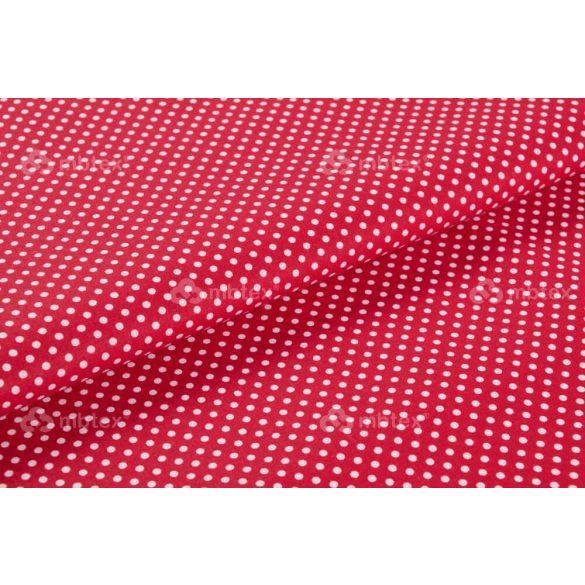 D 251 piros alapon fehér pöttyös 2 mm