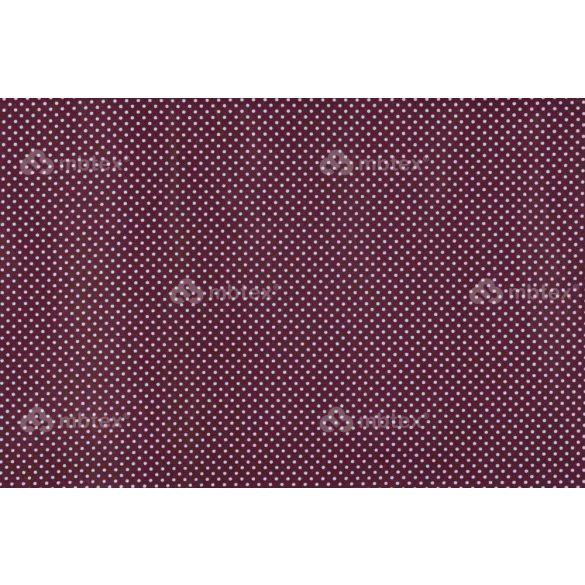 D 004 bordó alapon fehér pöttyös 2 mm