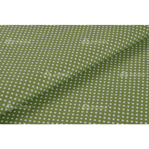 D 253 zöld alapon fehér pöttyös 2 mm