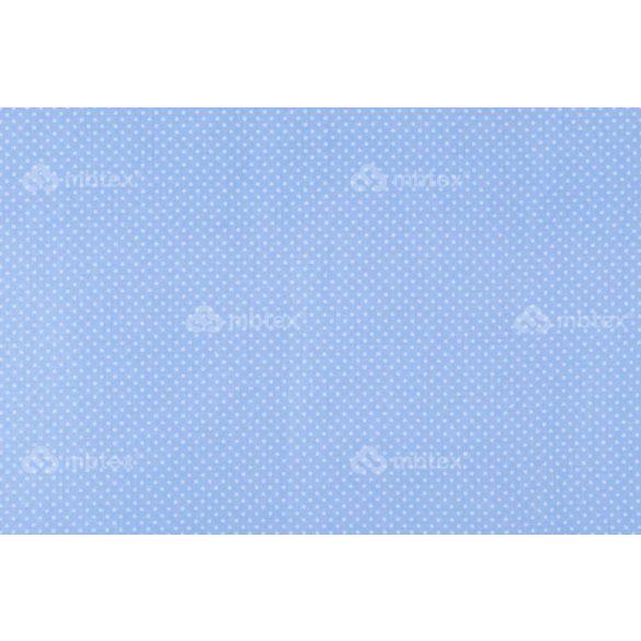 D 259 világoskék alapon fehér pöttyös 2 mm