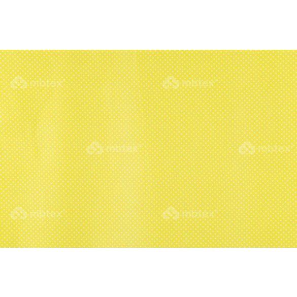 D 323 sárga alapon fehér pöttyös 2 mm