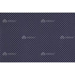 D 324 sötétkék  alapon fehér pöttyös 2 mm