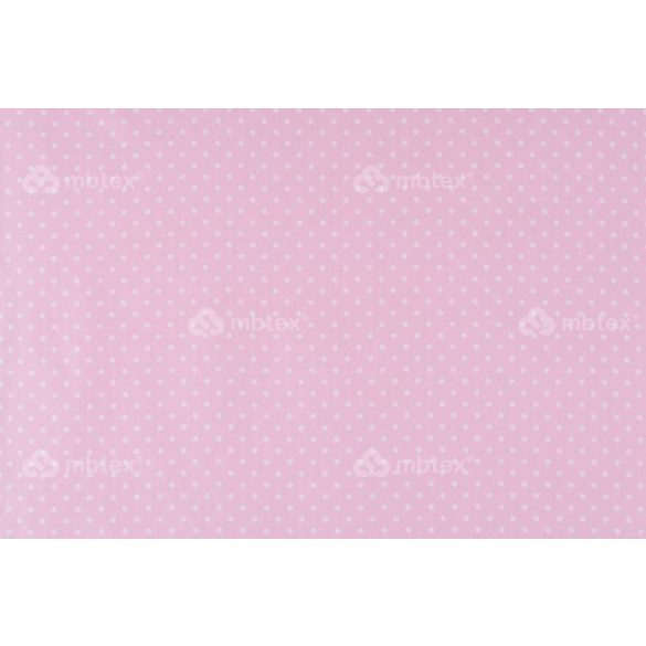 D 350 rózsaszín alapon fehér pöttyös 5 mm