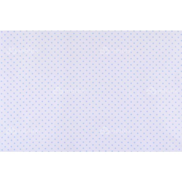 D 357 fehér alapon világoskék pöttyös 5 mm