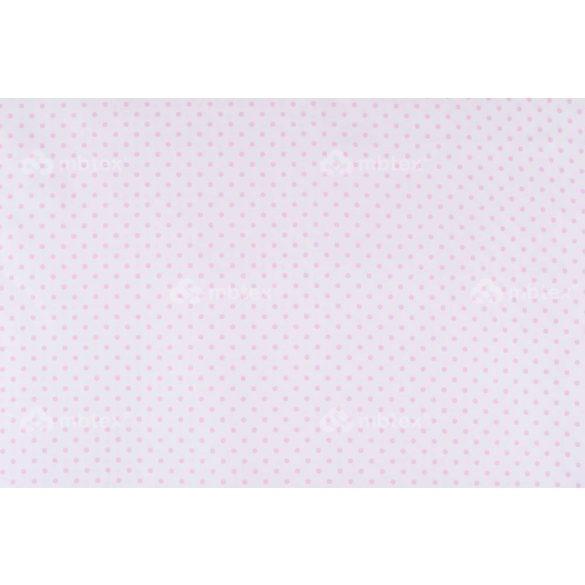 D 358 fehér alapon rózsaszín pöttyös 5 mm