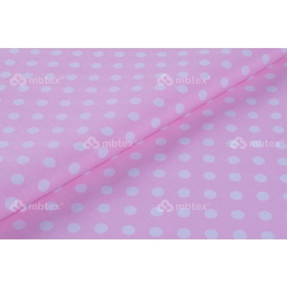 D 440 rózsaszín alapon fehér pöttyös 10 mm