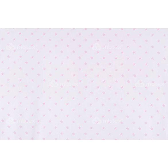 D 343 fehér alapon rózsaszín csillagos