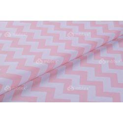D 426 rózsaszín-fehér chevron mintás