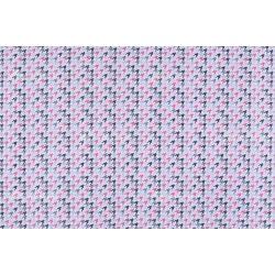 D 366 rózsaszín pepita mintás
