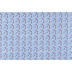 D 367 kék pepita mintás