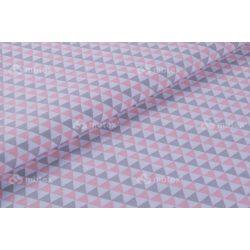 D 423 rózsaszín háromszög mintás
