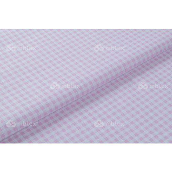 D 089 babarózsaszín 5 mm kockás mintás