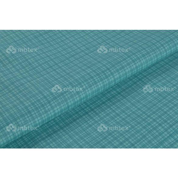 D 161 türkiz négyzetrácsos mintás