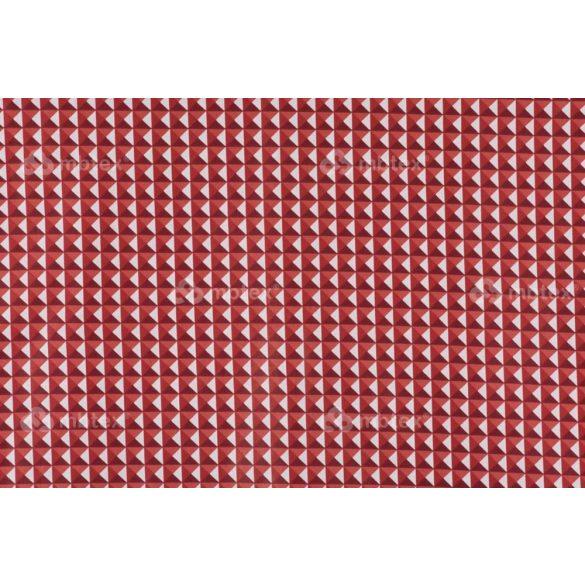 D 312 piros 3D piramis mintás