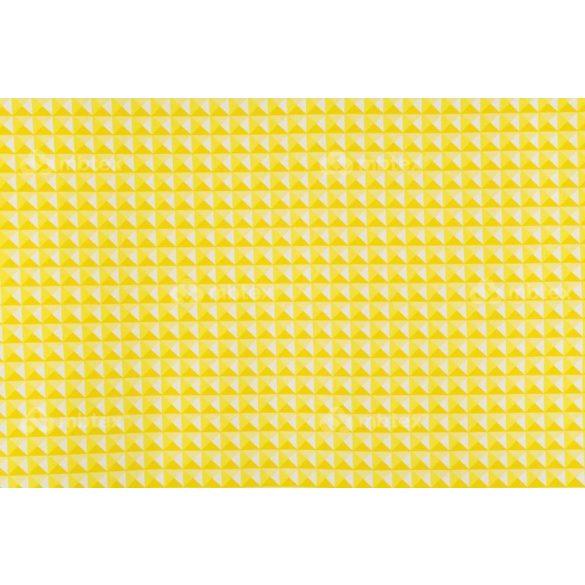 D 313 sárga 3D piramis mintás