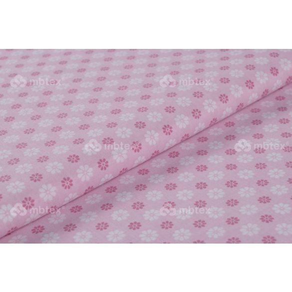 D 415 rózsaszín virágos négyzetes mintás