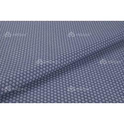 D 074 kék virágos mintás