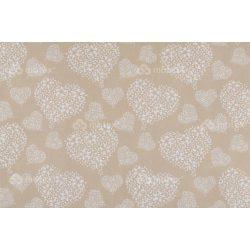 D 282 fehér virágos szíves mintás