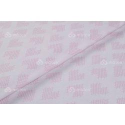 D 411 rózsaszín szíves mintás