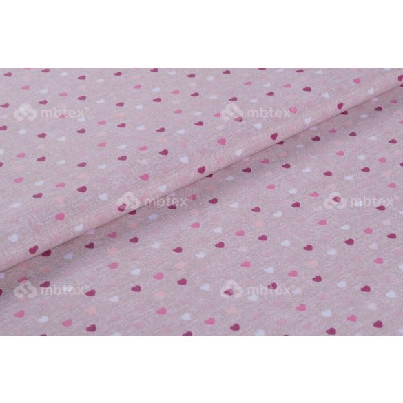 D 434 rózsaszín mini szíves mintás