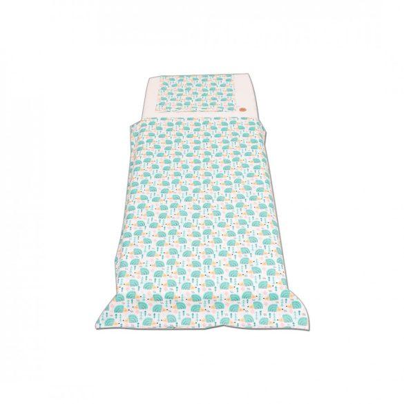 Fehér türkiz sünis ágyneműszett kisgyermeknek