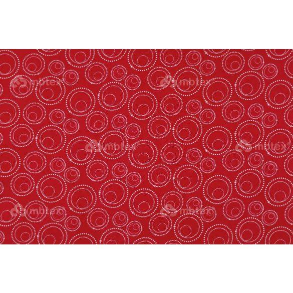 C 279 piros buborékos mintás