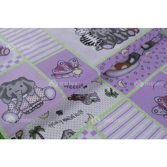 D 001 lila állatkertes mintás