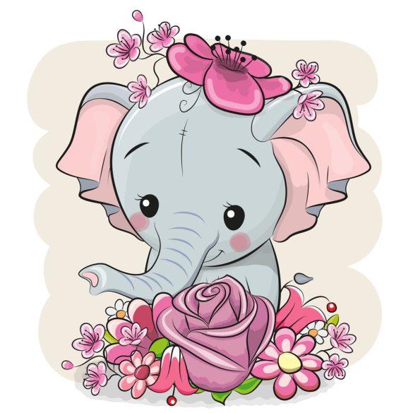 Elefánt lány 1 minta