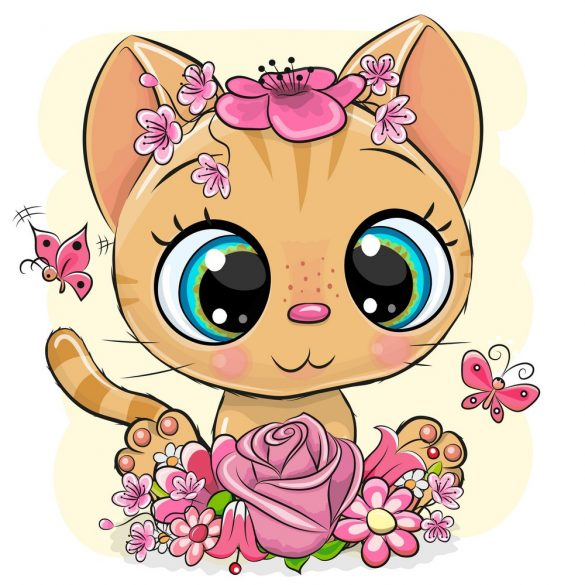 Vörös cica lány 1 minta