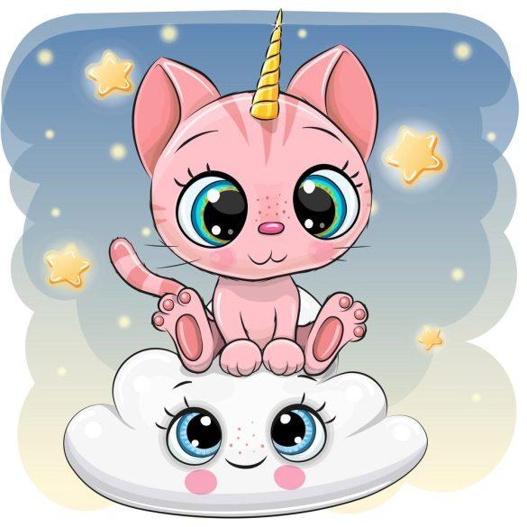 Rózsaszín cica lány 2 minta