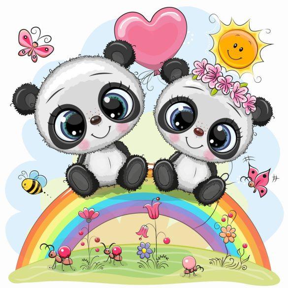 Panda pár 3 minta