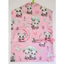 Pink pandás ovis zsák és tornazsák szett