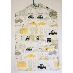 Sárga járműves ovis zsák és tornazsák szett