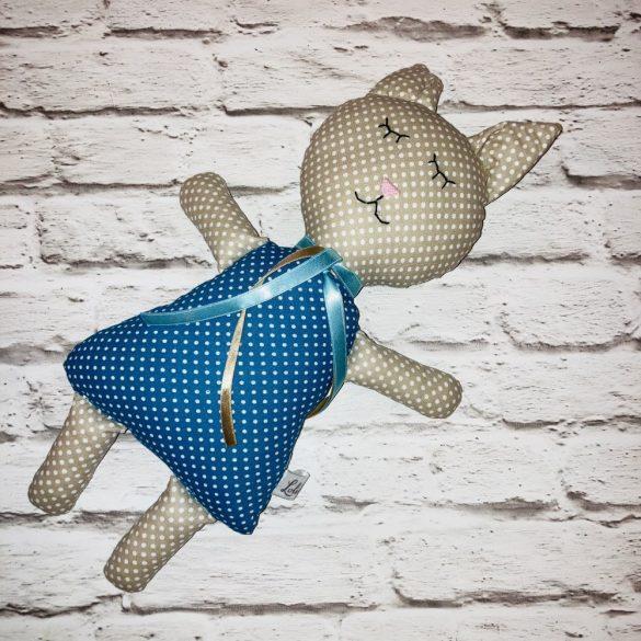 Malvinka rózsaszín cica figura