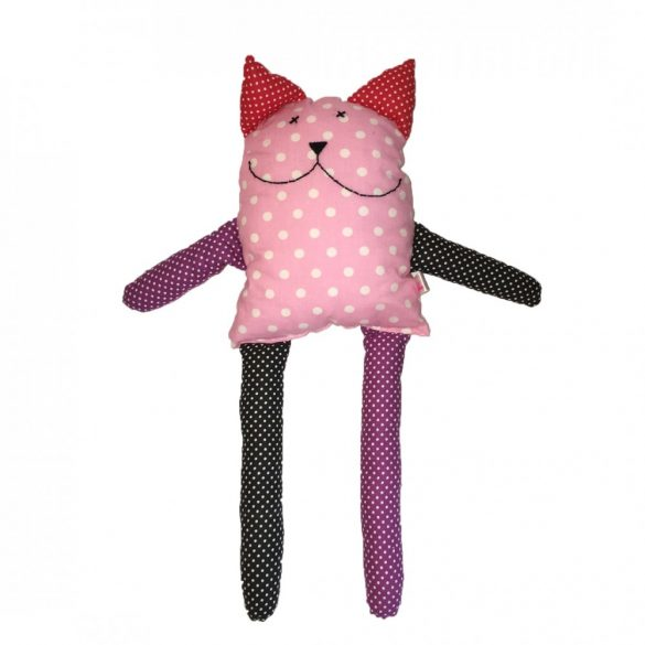 Luna rózsaszín cica figura