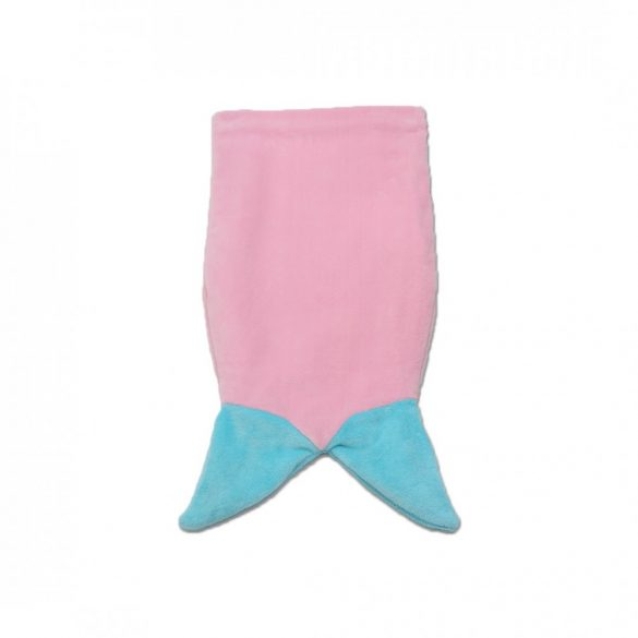 Rózsaszín-menta sellő lábzsák
