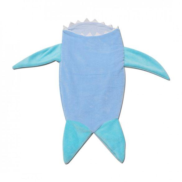 Vliágoskék-menta cápás lábzsák